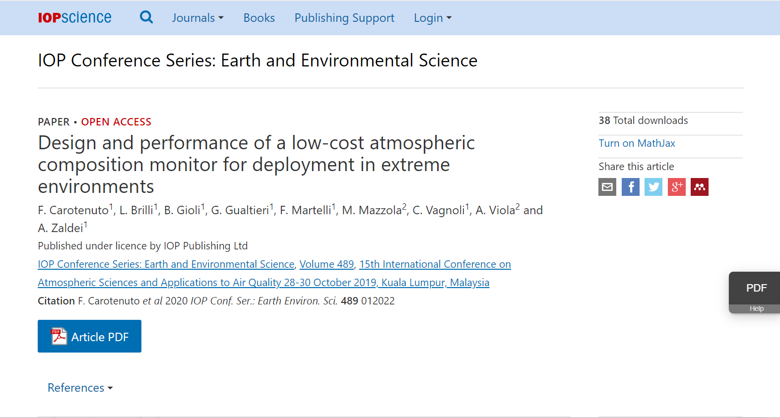 Design and Performance of a Low-Cost Atmospheric Composition Monitor for Deployment in Extreme Environments