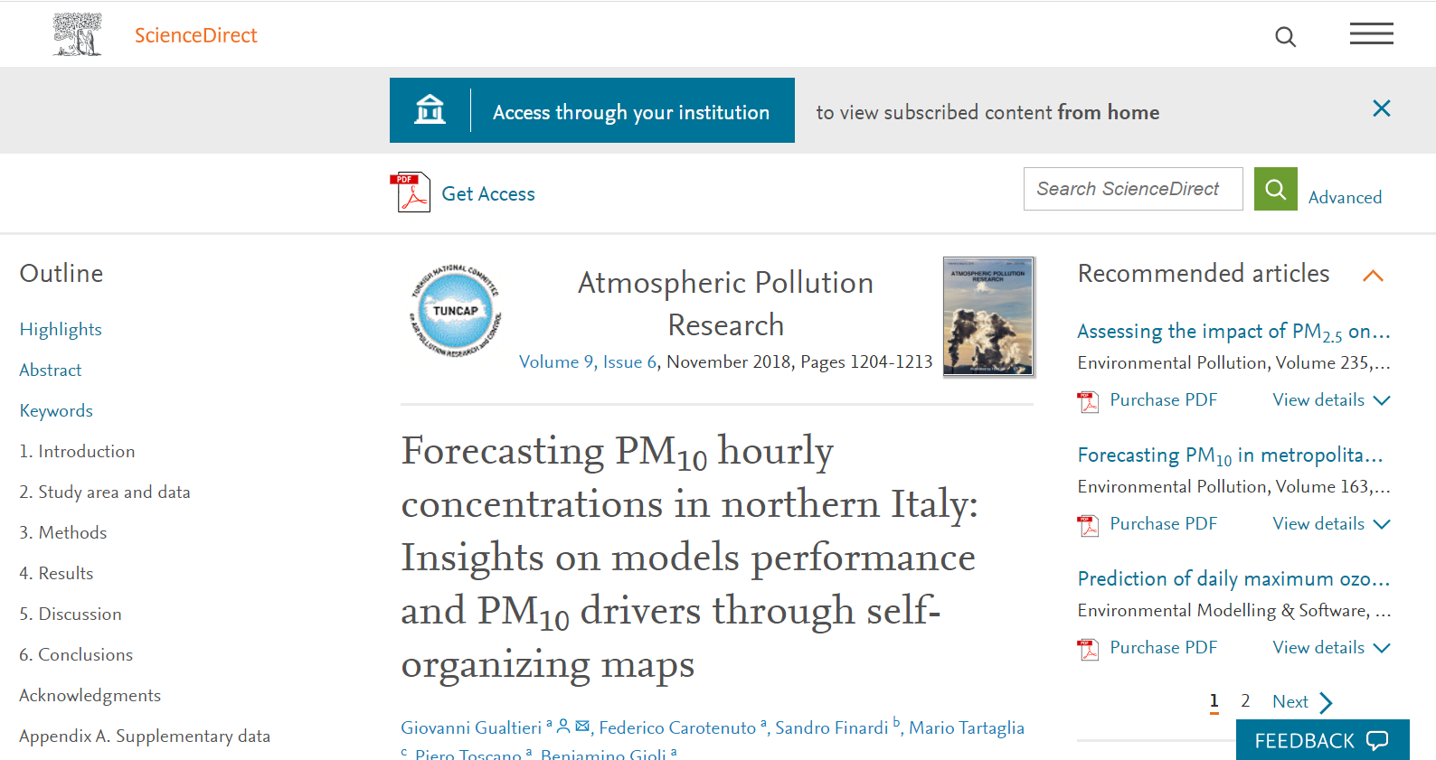 Forecasting PM10 Hourly Concentrations in Northern Italy: insights on models performance and PM10 drivers through self-organizing maps