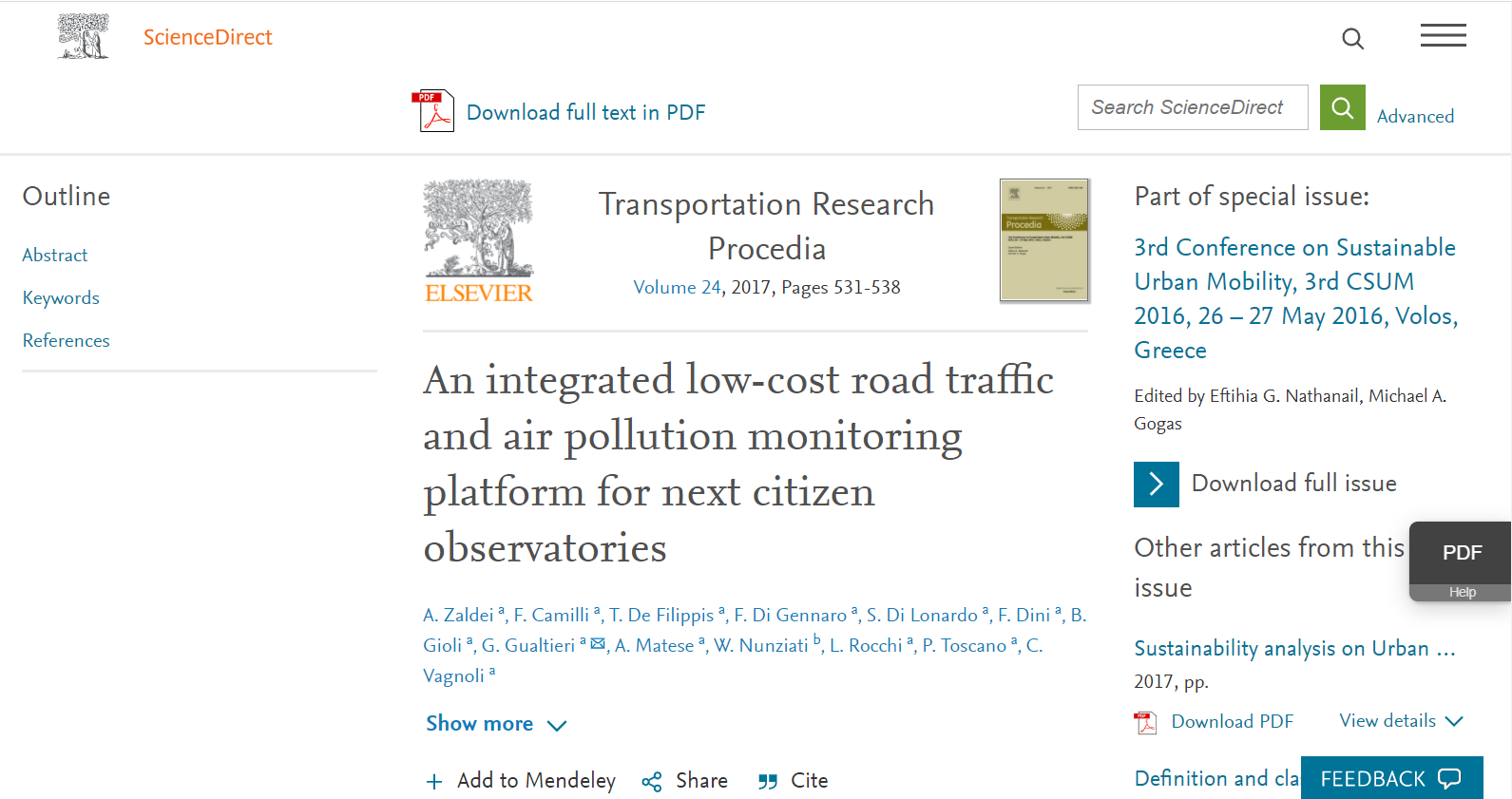 An integrated low-cost road traffic and air pollution monitoring platform for next citizen observatories