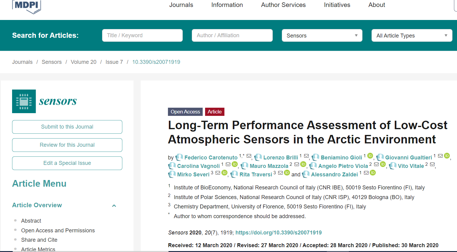 Long-Term Performance Assessment of Low-Cost Atmospheric Sensors in the Arctic Environment