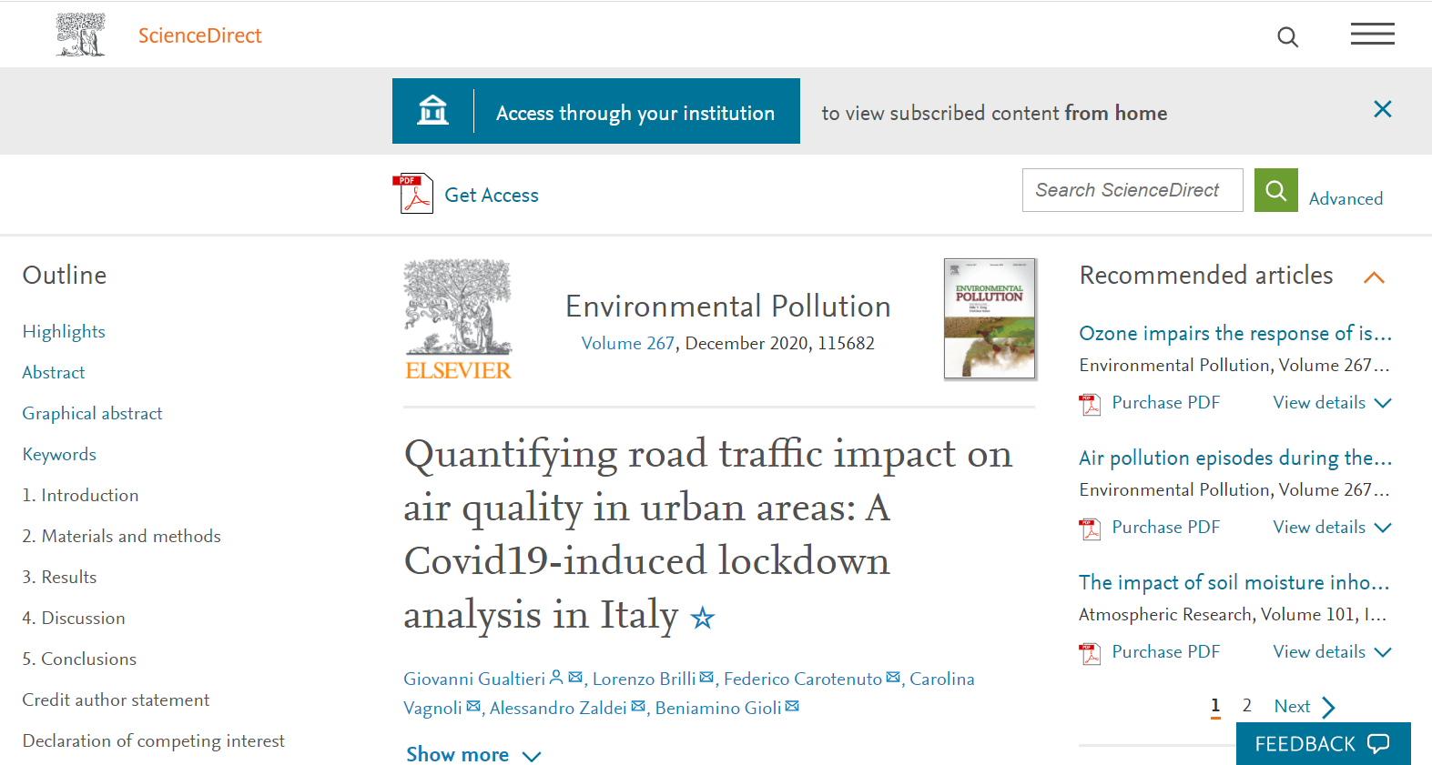 Quantifying Road Traffic Impact on Air Quality in Urban Areas: a Covid19-induced lockdown analysis in Italy